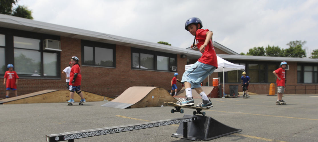 Learn from the pros at our Skateboarding Academy