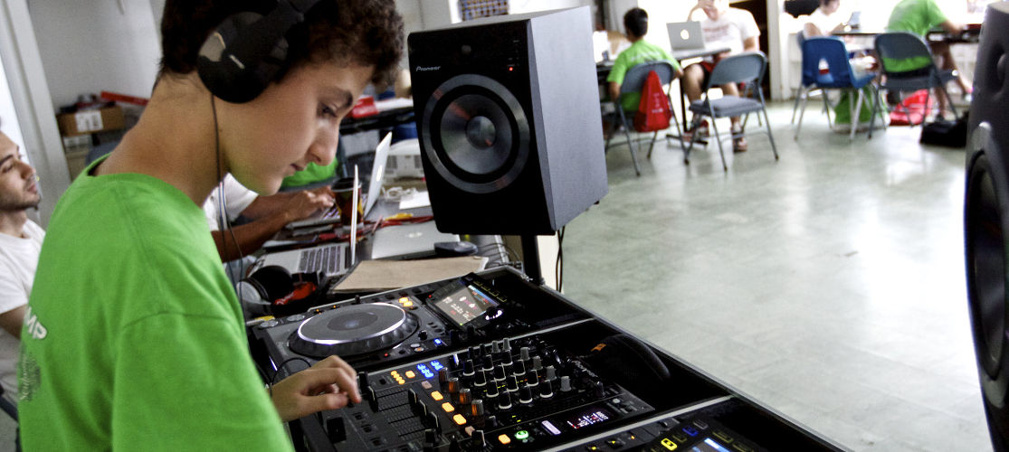 Digital Music Production teaches campers to compose, mix, and record their original songs